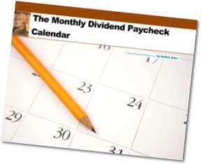 Monthly Dividend Calendar