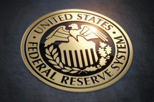 Symbol of FED federal reserve of USA. 3d illustration
