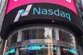 NEW YORK - SEPTEMBER 9: Nasdaq Marketsite in 4 Times Square on September 9, 2016 in New York. This is the marketing presence of the Nasdaq stock market.
