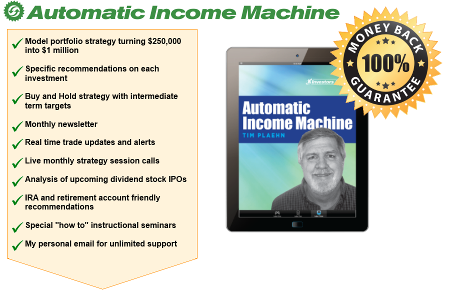 Automatic Income Machine: two part form | Investors Alley
