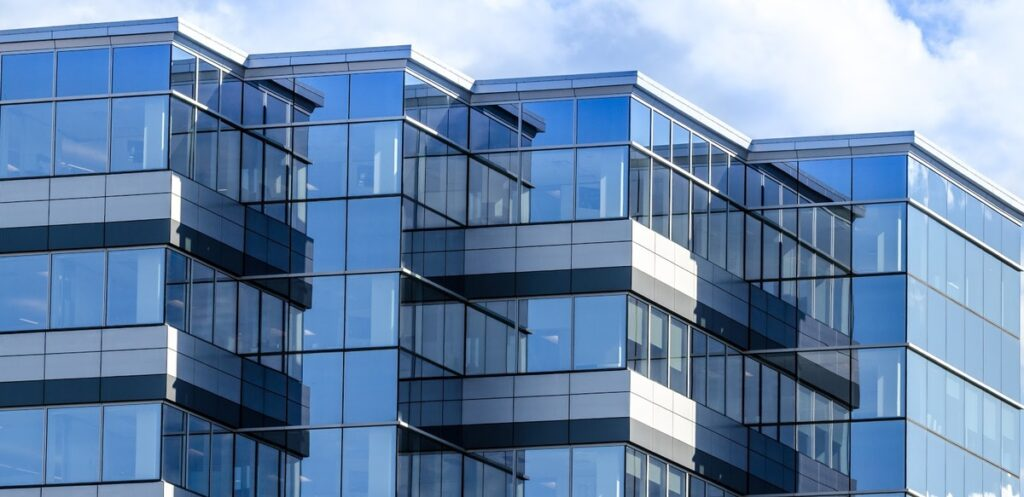 Portfolio diversification: A glass office building