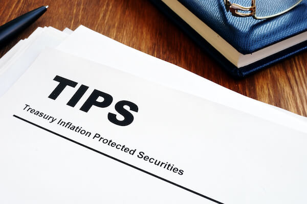 safe retirement investments: treasury inflation protected securities printed on paper