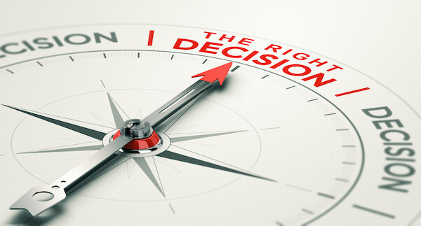 one stock retirement: compass pointing at the right decision
