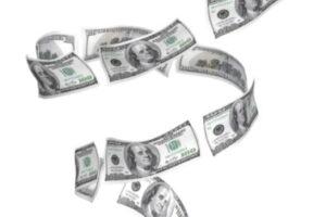 Tornado dollars to drain - crisis concept