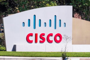 Aug 1, 2019 San Jose / CA / USA - CISCO sign in front of the headquarters in Silicon Valley; Cisco Systems, Inc. is an American multinational technology conglomerate