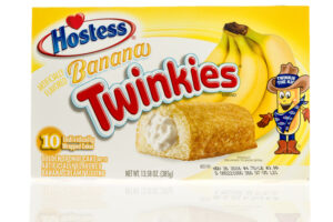 Winneconne, WI - 2 November 2016:  Box of Hostess banana twinkies on an isolated background.