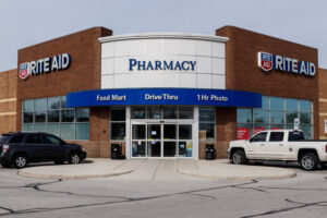 St. Marys - Circa April 2019: Rite Aid Drug Store and Pharmacy. In 2018, Rite Aid transferred 625 stores to WBA, the owner of Walgreens I