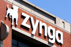 August 10, 2019 San Francisco / CA / USA - Zynga sign at their HQ in Silicon Valley; Zynga Inc. is an American social game developer, its main focus being mobile and social networking platforms