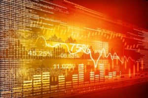 Stock market graphs, business chart