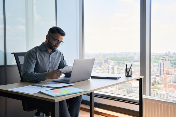 Man working in his office