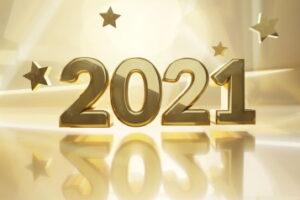 golden design background 2021 3d-illustration