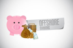 offshore banking sign illustration design over a white background