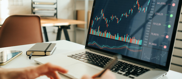 cash secured puts: person looking at data and statistics