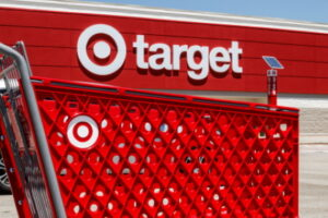 Lafayette - Circa July 2019: Target Retail Store Baskets. Target Sells Home Goods, Clothing and Electronics V