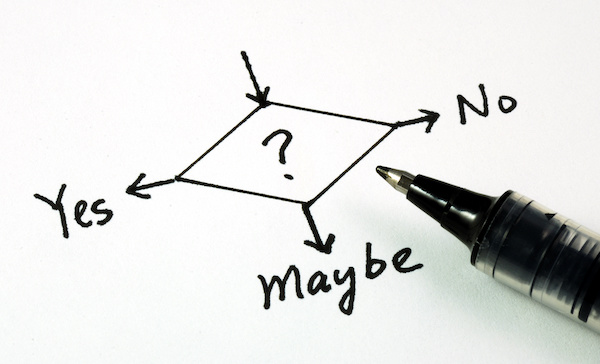 Yes, No, Maybe decision map